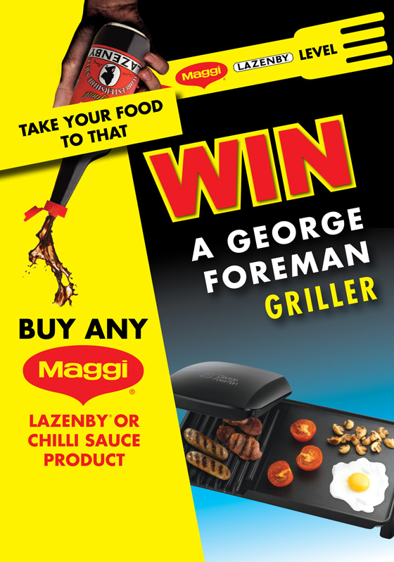 Nestlé Maggi Lazenby Win A George Foreman Griller Competition
