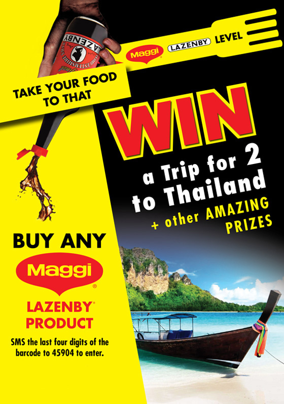 Nestlé Maggi Lazenby Win A Trip to Thailand Competition