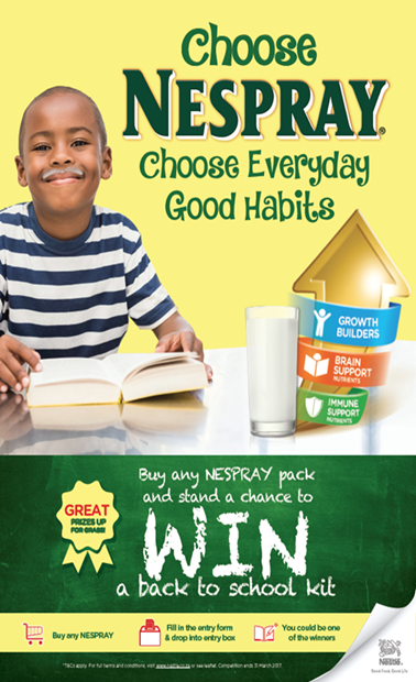Nestlé NESPRAY Everyday Good Habits Swaziland and Namibia Promotion