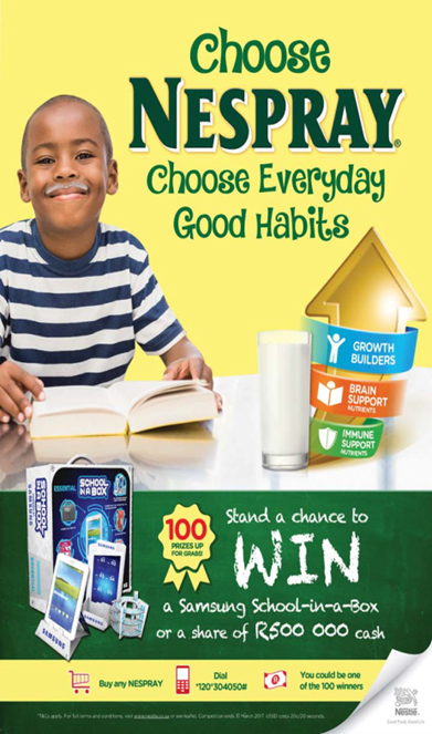 Nestlé NESPRAY Everyday Good Habits South Africa Promotion