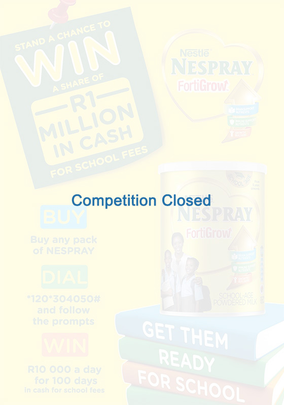 Nestlé NESPRAY Q1 2018 BACK 2 SCHOOL CONSUMER COMPETITION