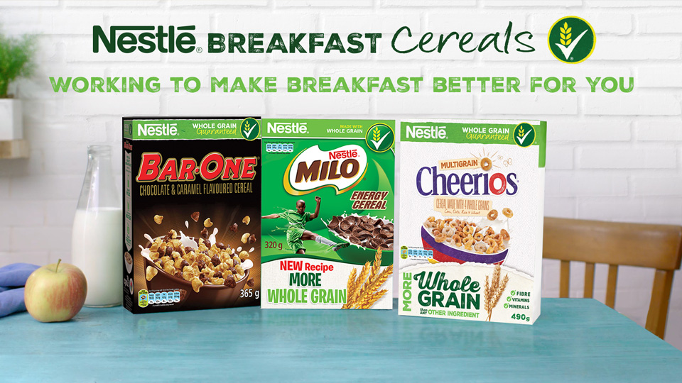 whole grain cereals