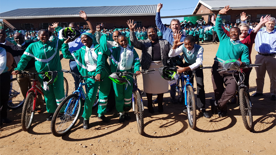 Bike boost for Mpumelelo High School