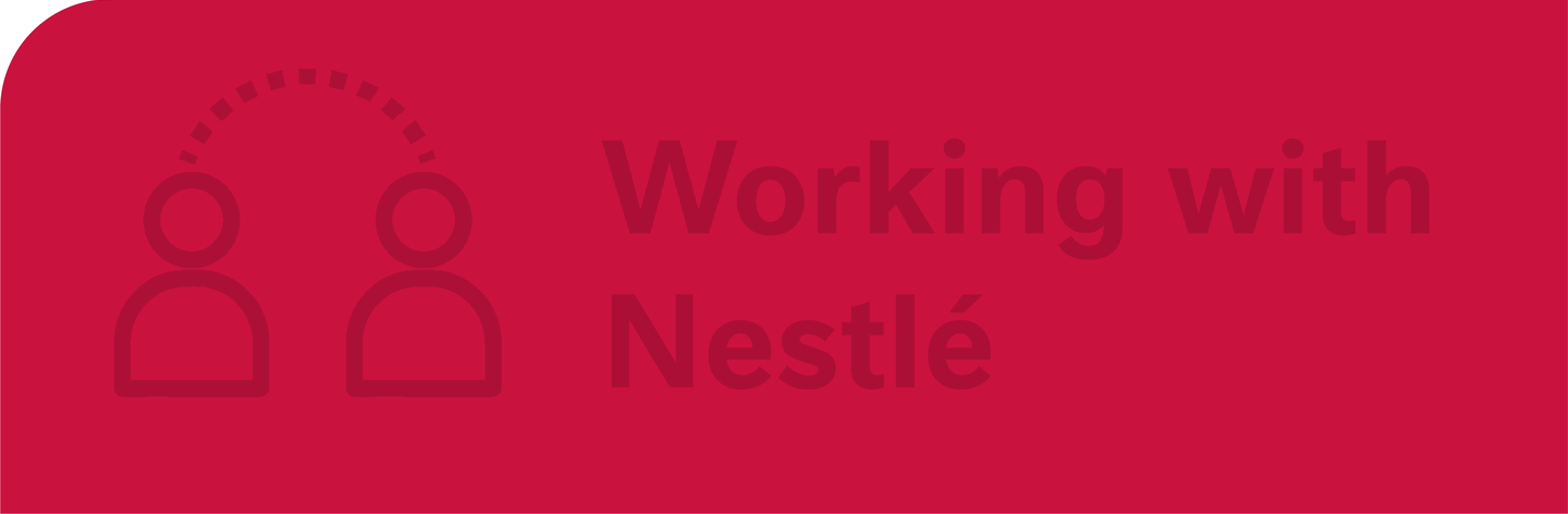 Working with Nestlé banner